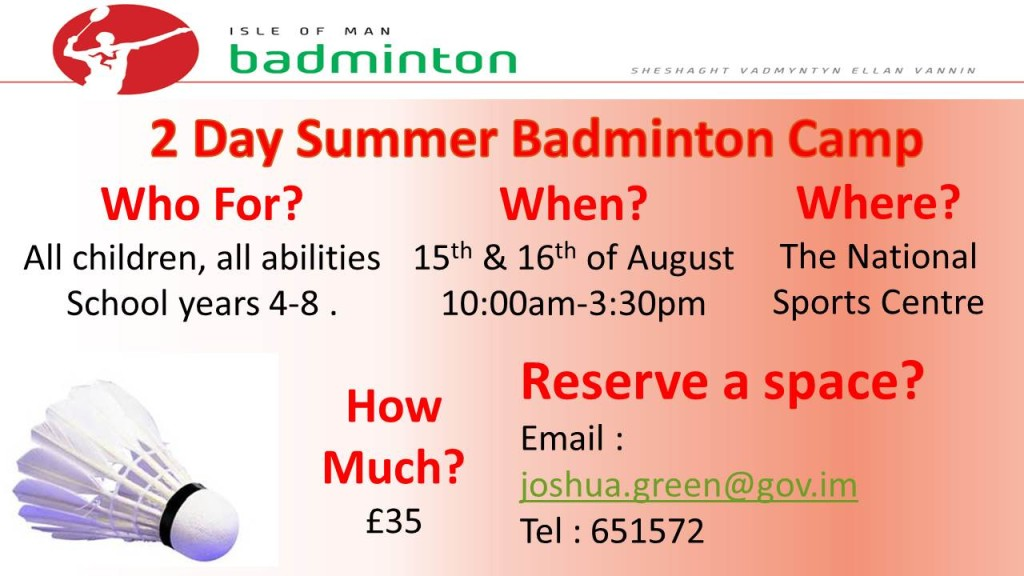 Badminton Camp poster