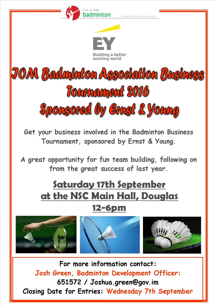 Business Tournament Flyer 2016